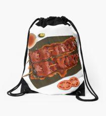 Barbeque foodart Drawstring Bag