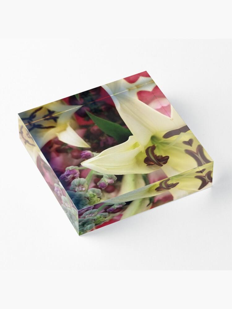 Alternate view of Floral Fun Acrylic Block