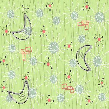 Boomerangs on Celery Green by gailg1957