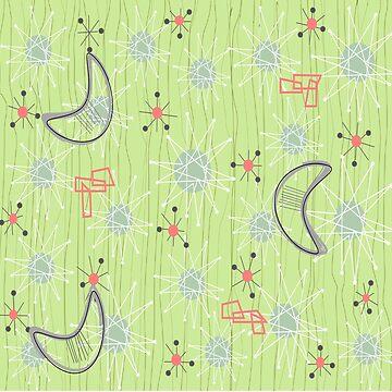 Boomerangs on Celery Green by gailg1957