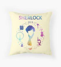 Sherlock - watercolour Throw Pillow