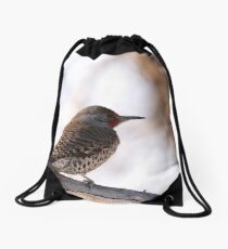 Northern Flicker Drawstring Bag