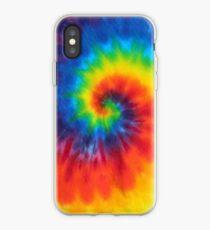 Vinilo o funda para iPhone tie dye swirl rainbow