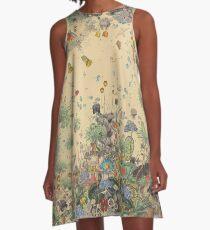 Gartenumgebung A-Linien Kleid