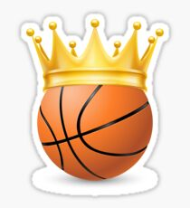 Gold Crown on a Basketball Ball Sticker