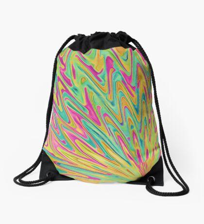 Abstract Newborn Star Drawstring Bag
