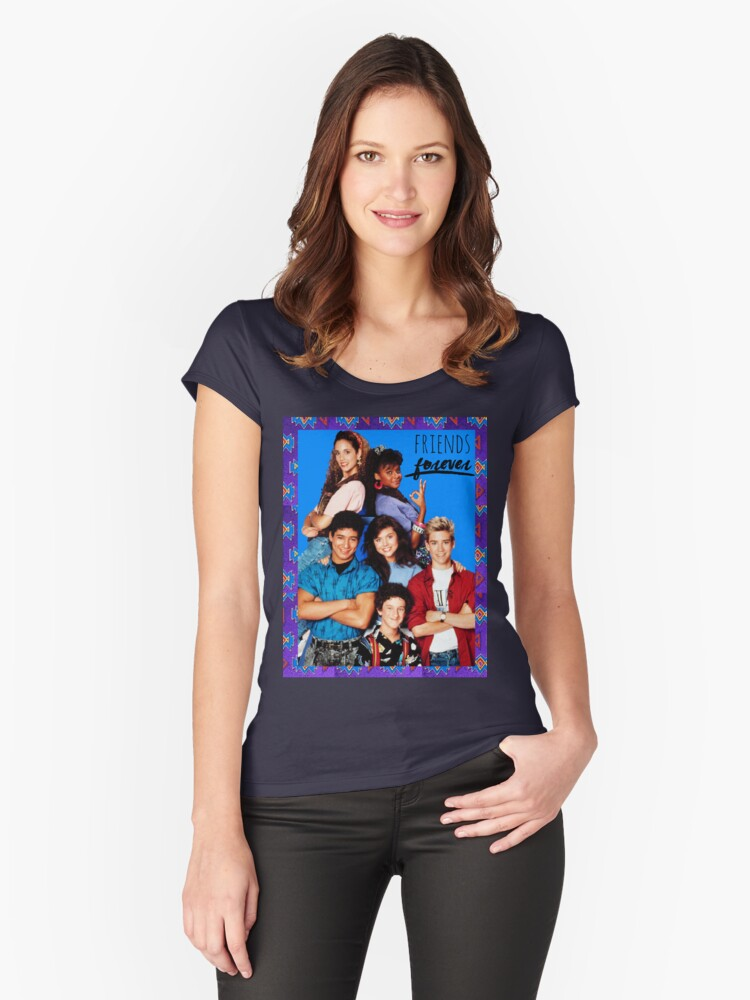Friends Forever Women's Fitted Scoop T-Shirt Front