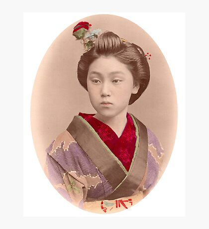 Beautiful Japanese girl Photographic Print