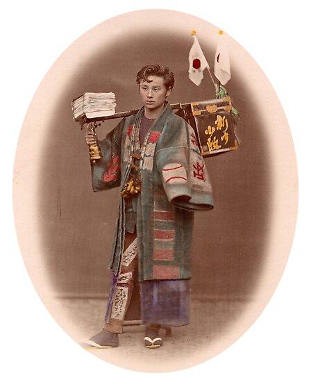 Japanese newpaper boy by Fletchsan