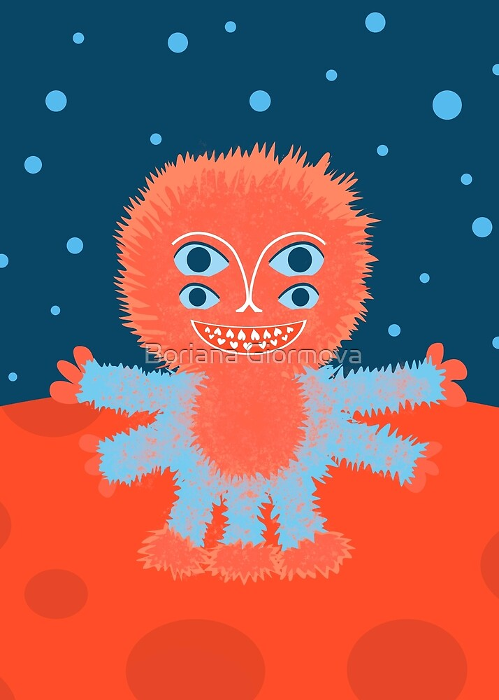 Focussian Fluffy Cartoon Alien by Boriana Giormova