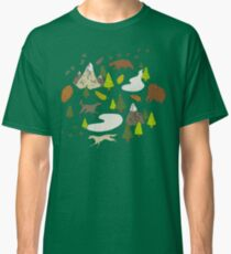 Wild Wood Mountains and Animals Classic T-Shirt