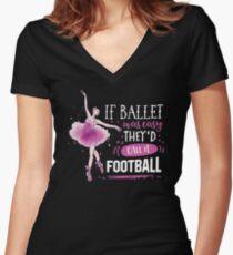 ballet ballett dancing Fitted V-Neck T-Shirt