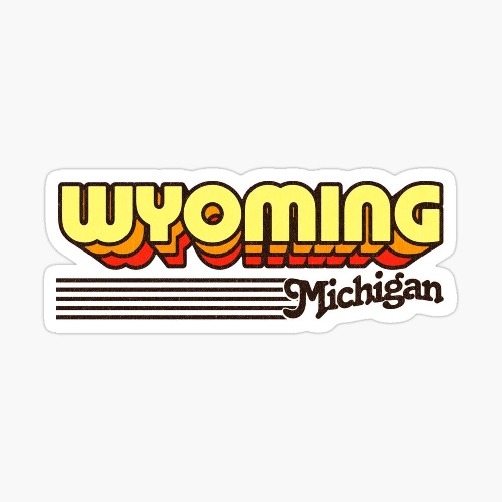 Wyoming, Michigan | Retro Stripes Sticker