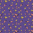 Flamingos auf Ultraviolett von PearTreePond