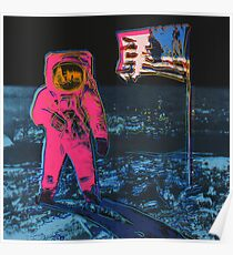 Andy Warhol Moon Walk high quality print Poster