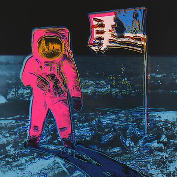 Andy Warhol Moon Walk high quality print by jasmineGold