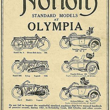 Vintage Norton Standard Advert - Circa 1921 by marlenewatson