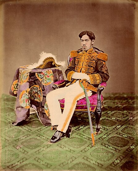 Meiji Emperor of Japan, Mutsuhito, 1872 by Fletchsan