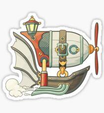 Steampunk airship Sticker