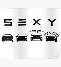 Sexy Tesla Poster