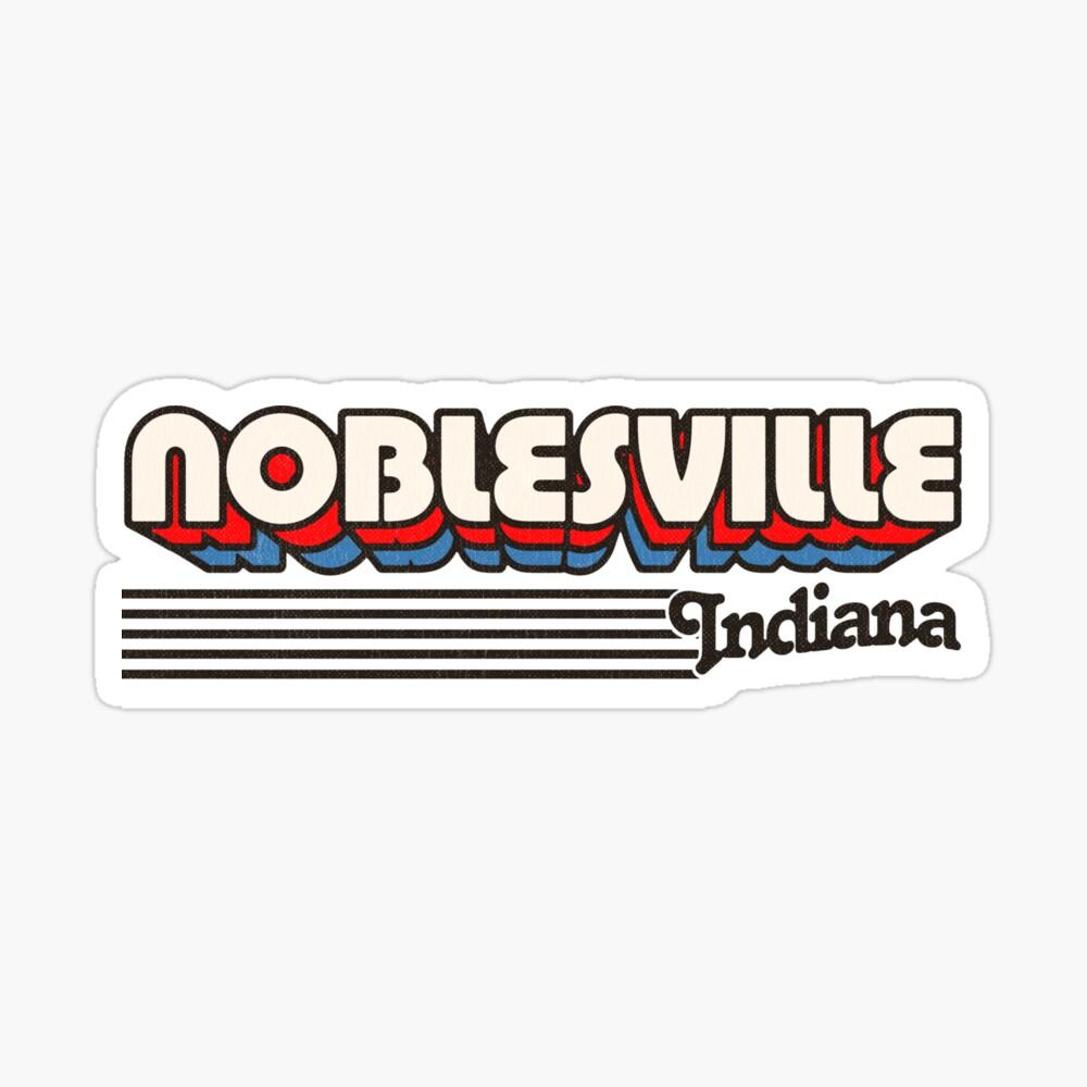 Noblesville, Indiana | Retro Stripes Sticker
