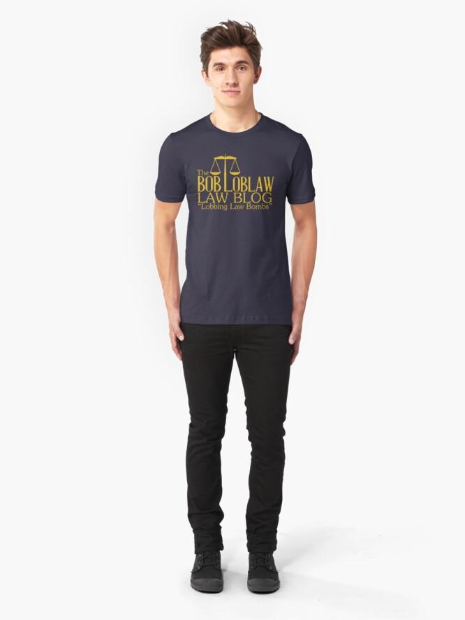 Alternative Ansicht von Der Bob Loblaw Low Blog Slim Fit T-Shirt