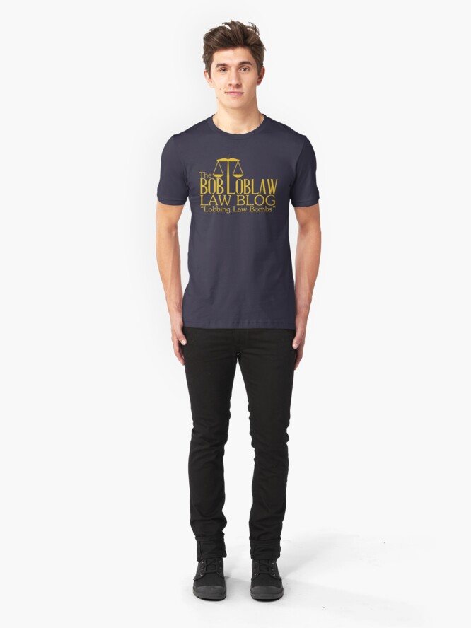 Alternative Ansicht von Der Bob Loblaw Law Blog Slim Fit T-Shirt