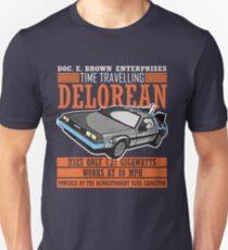 Doc E. Brown Time Travelling Delorean Unisex T-Shirt