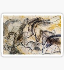 Chauvet Horses Aurochs and Rhinoceros Sticker