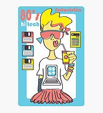 Hi Tech Girl Photographic Print