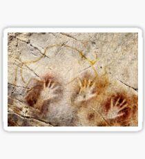 Cave of El Castillo Hands and Bison Sticker