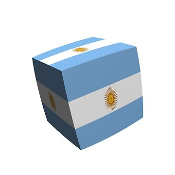 Argentinian flag cubed by stuwdamdorp