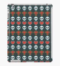 Cool Heart, Skull and Cross Pattern iPad Case/Skin