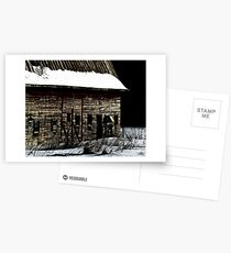 Barn in winter Postcards