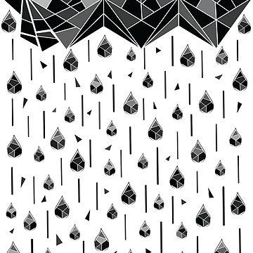 Geometric rain by cheeckymonkey