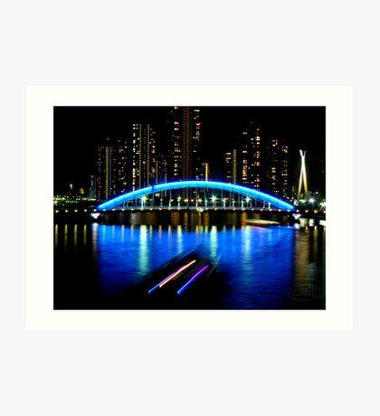 Sumida River at night Art Print