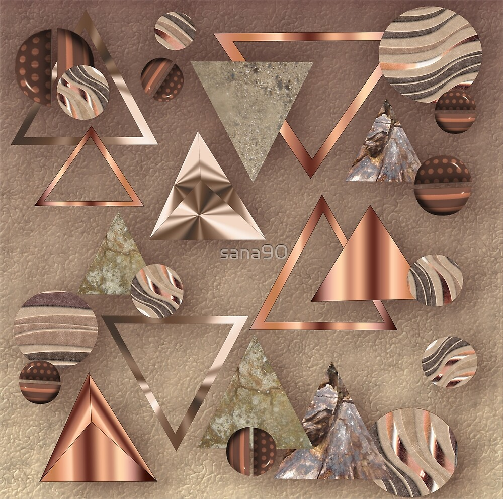 COPPER TRIANGLE ABSTRACT  by sana90