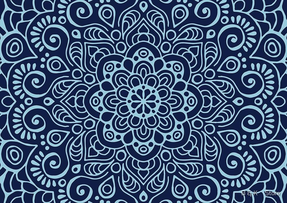 Spring Mandala I by B & K     Store