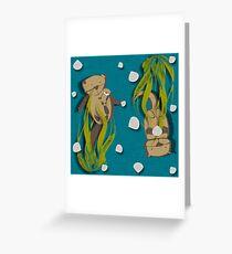 Signifikante Fischotter Grußkarte