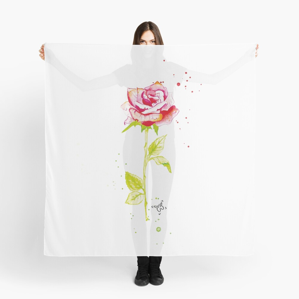 Rose Scarf Front