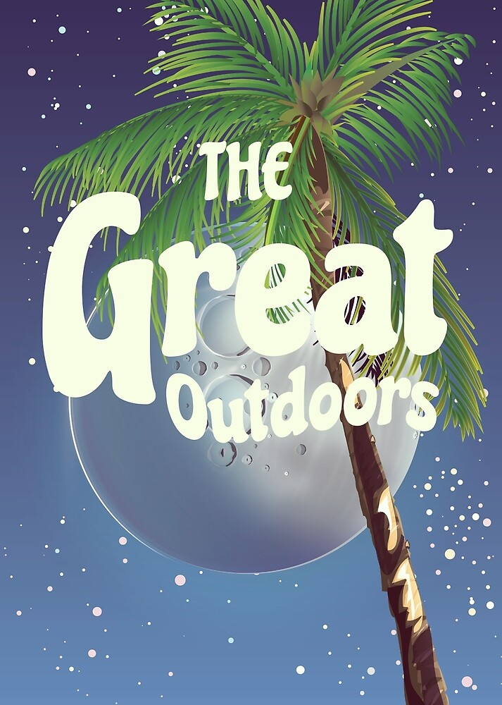 The Great Outdoors Moon by vectorwebstore