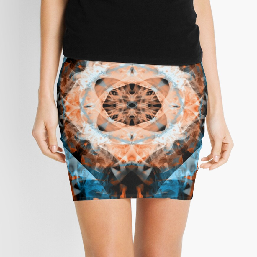 Turquoise And Royal Citrine Mini Skirt Front