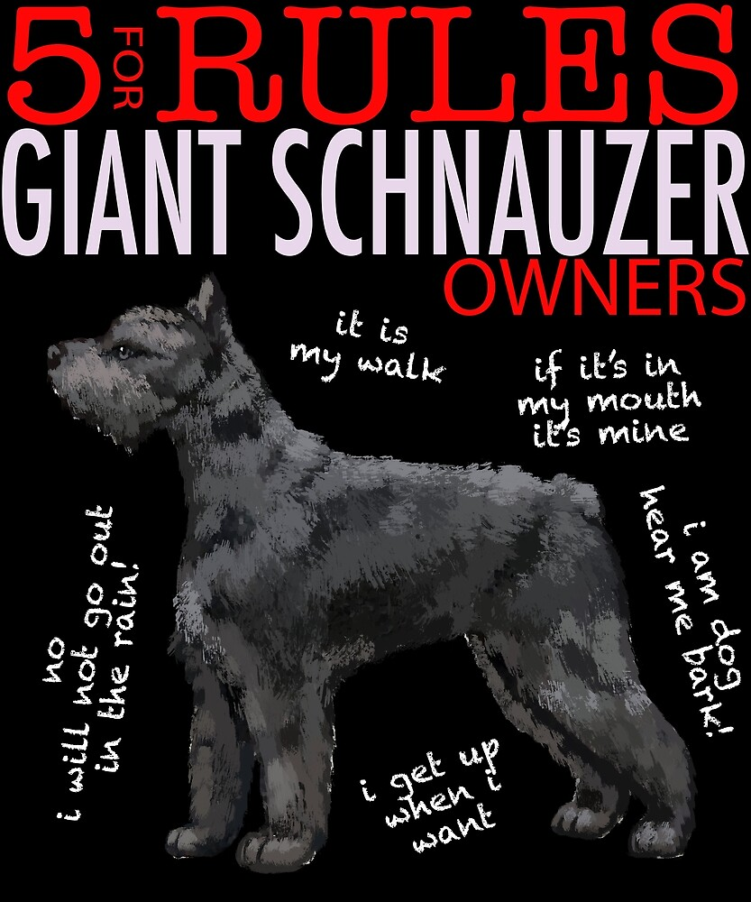 5 Rules for Giant Schnauzer Owners by MichaelRellov