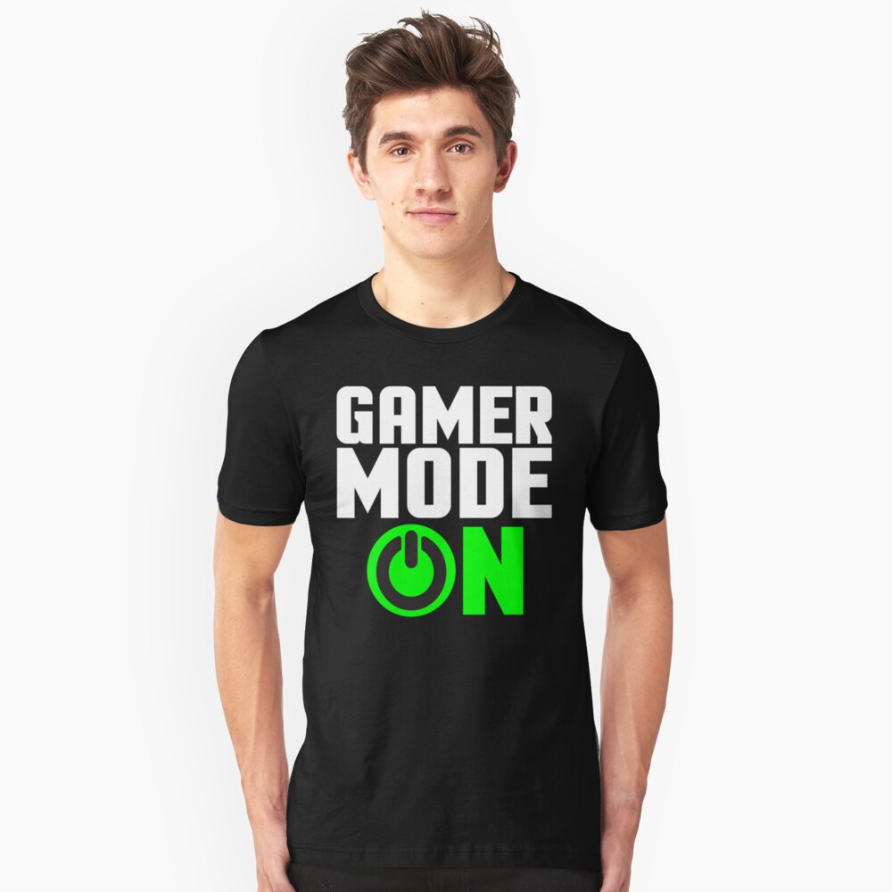 Gamer Mode On Video Games Gaming T-shirt Unisex T-Shirt Front