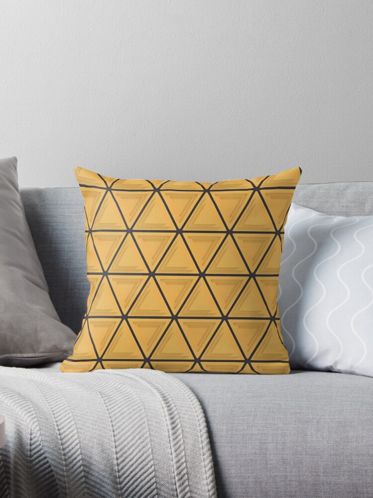 Triangular Pattern 1, Yellow & Black by SummerAndSun