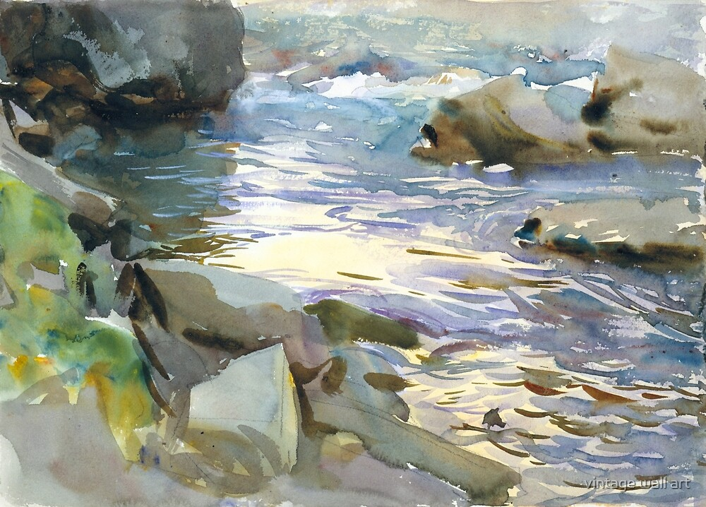 Stream and Rocks by John Singer Sargent, 1901 by fineearth