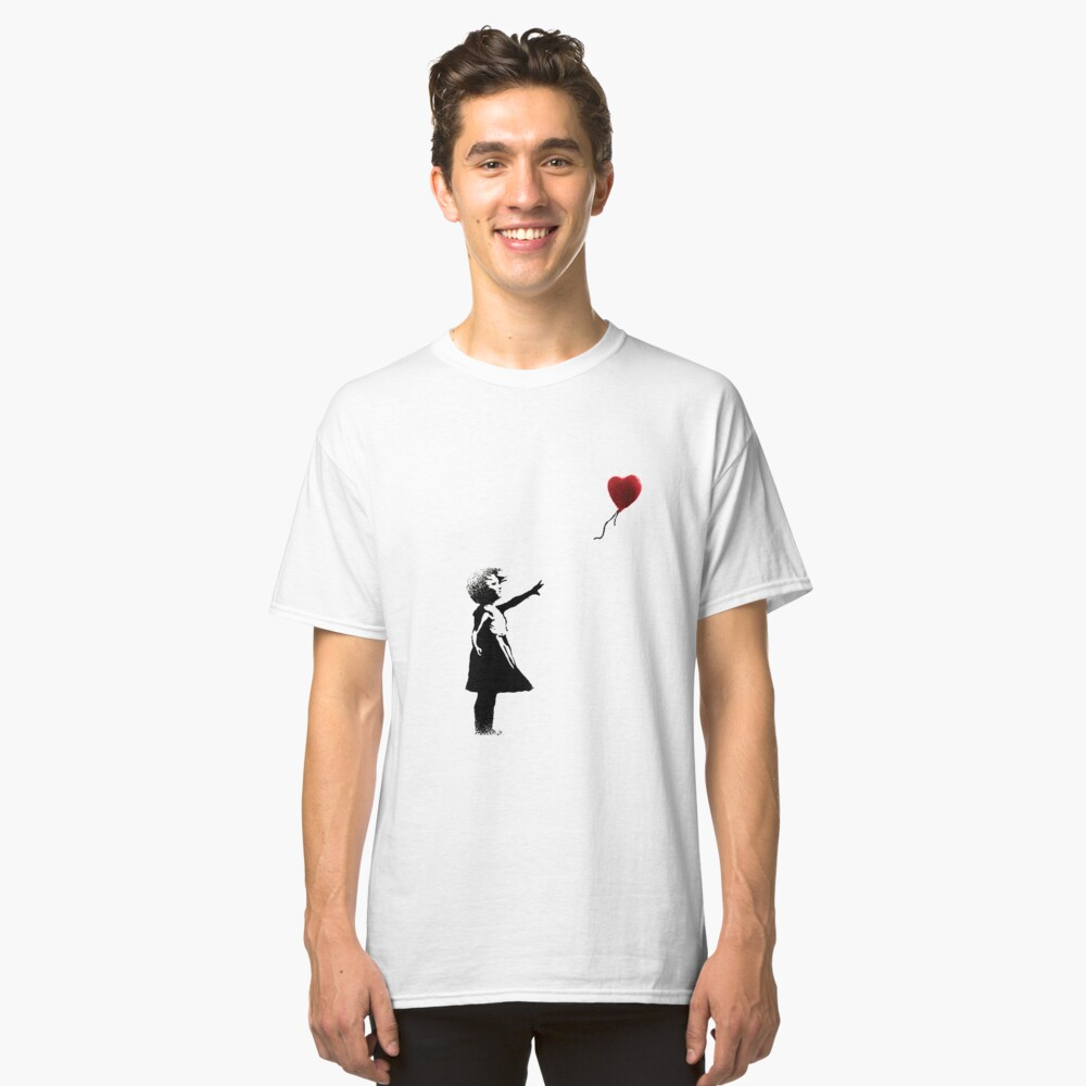 Girl with a Balloon  Classic T-Shirt Front