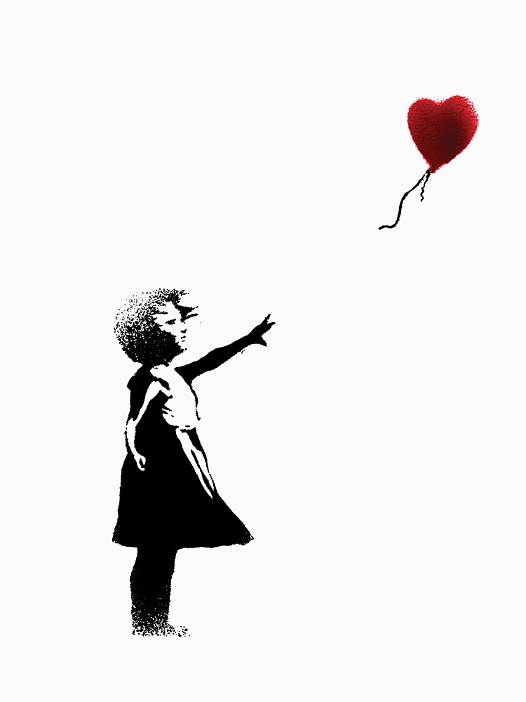 Girl with a Balloon  by TheBBEmporium