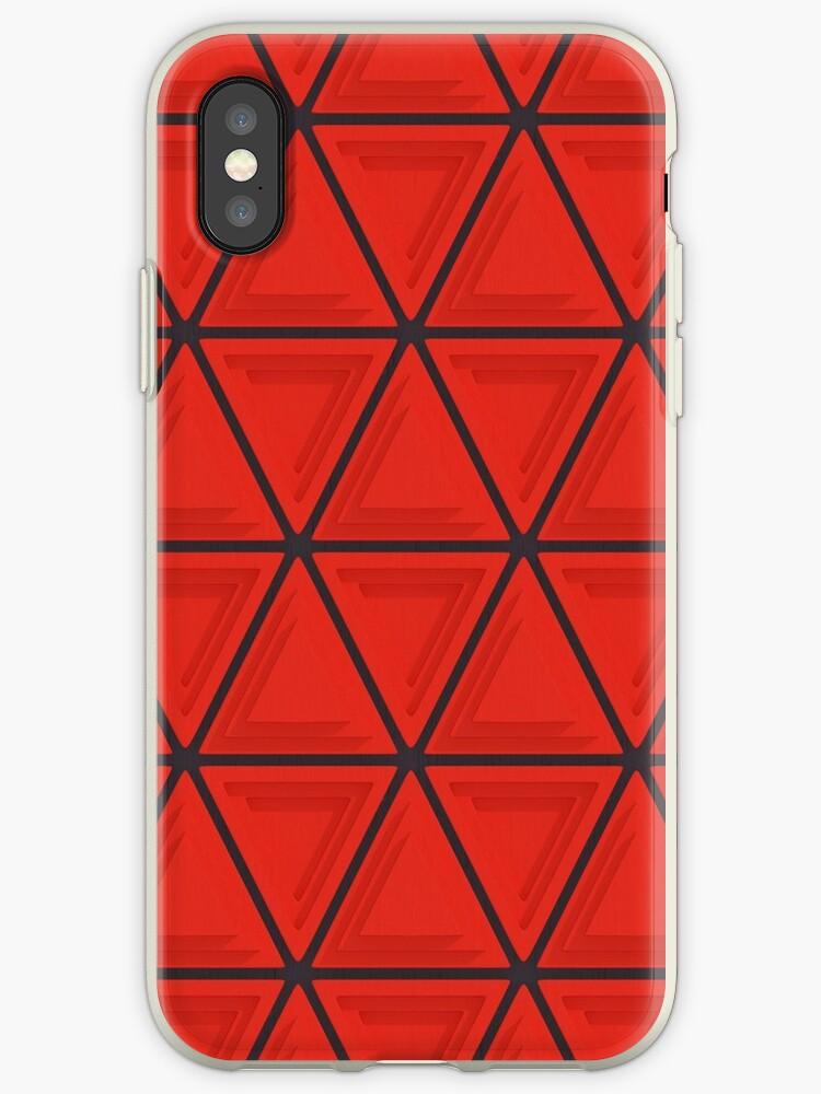 Triangular Pattern 1, Red & Black by SummerAndSun