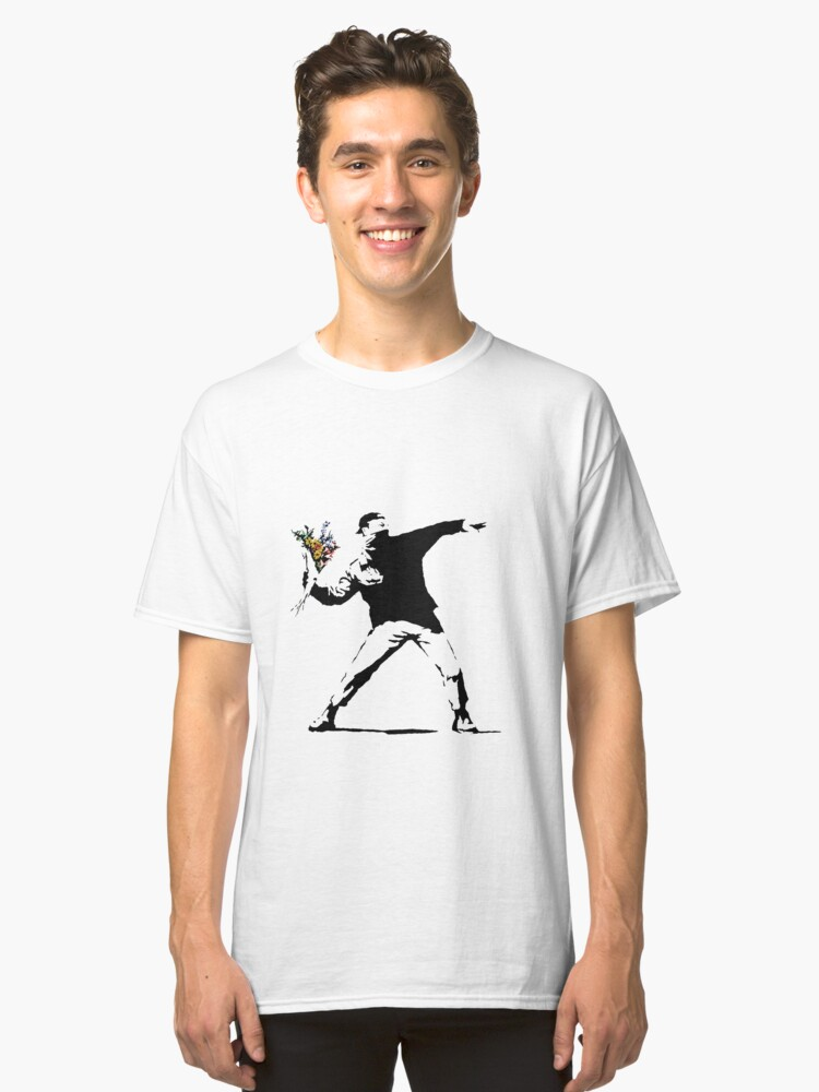 Flower Thrower  Classic T-Shirt Front